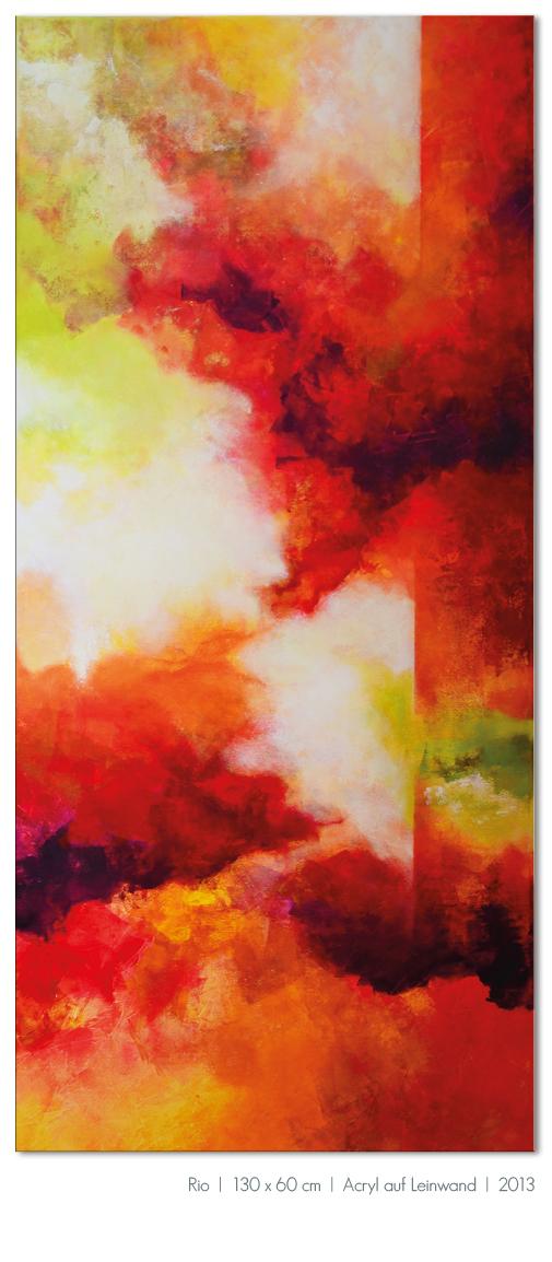Kunst Malerei Acryl abstrakt Gestaltung Bilder kaufen Farben rot orange Großformat Atelier bunt Esslingen Stuttgart Ostfildern Rio