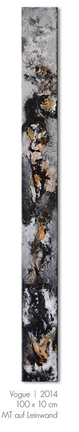 Kunst Malerei Acryl abstrakt Gestaltung Bilder kaufen Mischtechnik Vogue Mode Farben schwarz grau weiß Schellack Walze Großformat Atelier bunt Esslingen Stuttgart Ostfildern