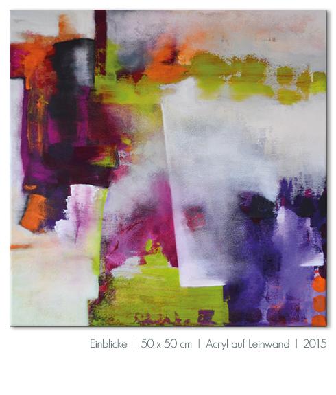 Kunst Malerei Acryl abstrakt Gestaltung Bilder kaufen Farben beere pink violett orange grün grau Walze Atelier bunt Esslingen Stuttgart Ostfildern Einblicke