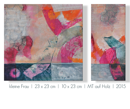 Kunst Malerei Acryl abstrakt Gestaltung Bilder kaufen Farben beere pink rosa Holz Mischtechnik grau Walze Atelier bunt Esslingen Stuttgart Ostfildern Kleine Frau
